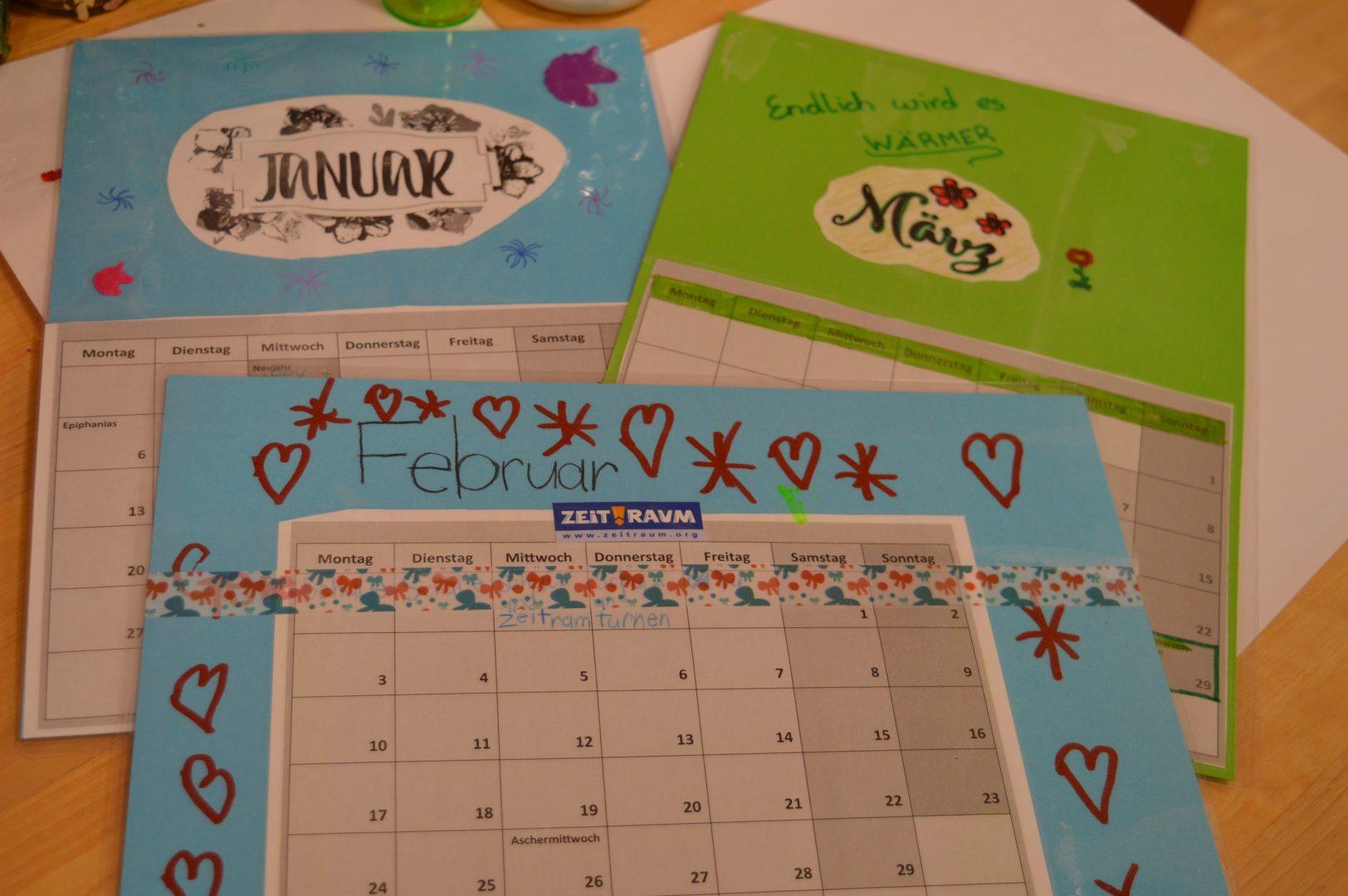 Basteln Kalender